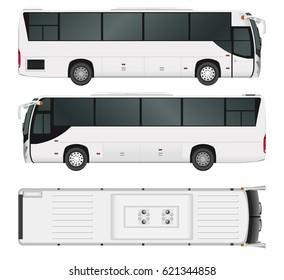 City bus template. Passenger transport. Vector illustration eps 10 isolated on white background