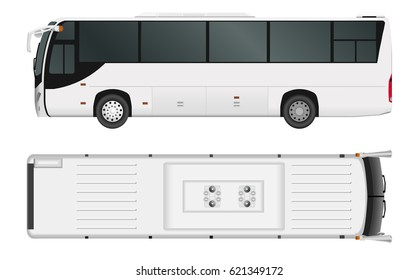 City bus template. Passenger transport. Vector illustration eps 10 isolated on white background.