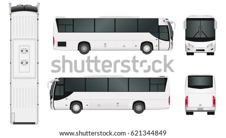 city bus template passenger transport vector stock vector royalty