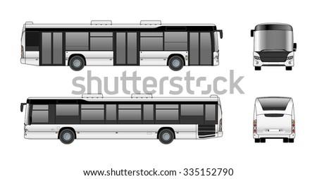 city bus vector template のベクター画像素材 ロイヤリティフリー