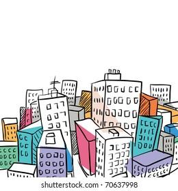 city doodle illustration