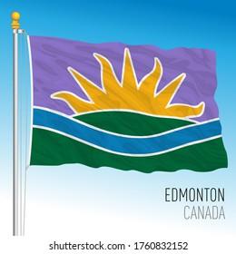 City of Edmonton, Alberta, Canada, new flag design, vector illustration