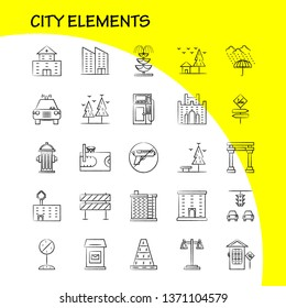City Elements Hand Drawn Icons Set For Infographics, Mobile UX/UI Kit And Print Design. Include: Car, Vehicle, Travel, Transport, Swing, Kids, Parks, Play, Eps 10 - Vector