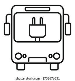 City eletrical bus icon. Outline city eletrical bus vector icon for web design isolated on white background