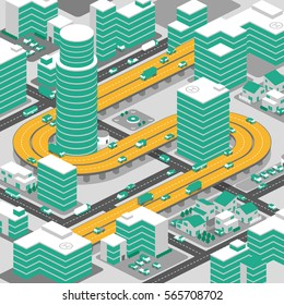 city and elevated highway, smart transportation