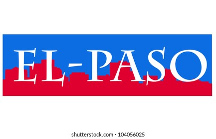 City of El-Paso high-rise buildings skyline