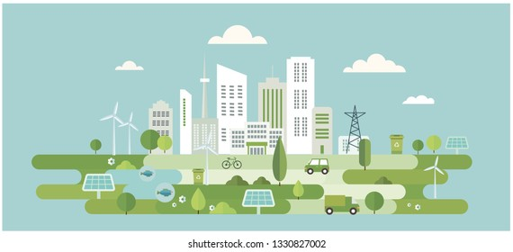 city environment illustration