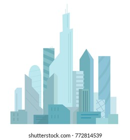 City future. Building skyscraper architecture landscape. Very tall buildings. Business center.