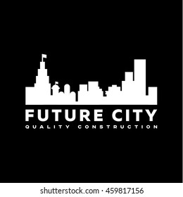 City of the Future Logo Flat vector design icon modern style illustrations art