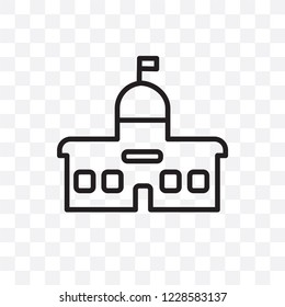 City hall vector linear icon isolated on transparent background, City hall transparency concept can be used for web and mobile