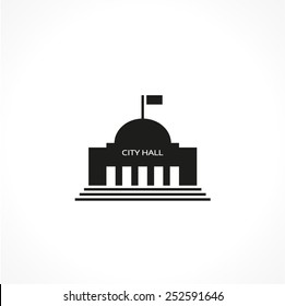 city hall-vector icon