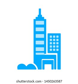 city icon. Logo element illustration. city design. colored collection. city concept. Can be used in web and mobile