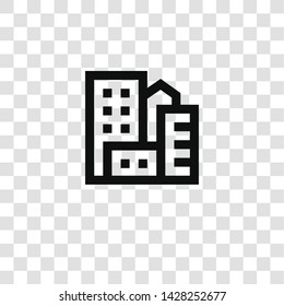 city icon from miscellaneous collection for mobile concept and web apps icon. Transparent outline, thin line city icon for website design and mobile, app development