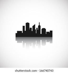 City icon. Vector illustration