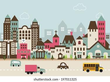 City illustration B