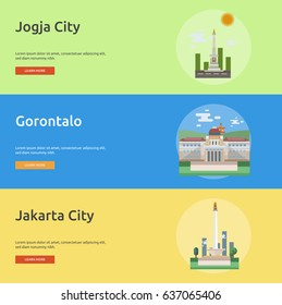 City of Indonesian Conceptual Banner Design