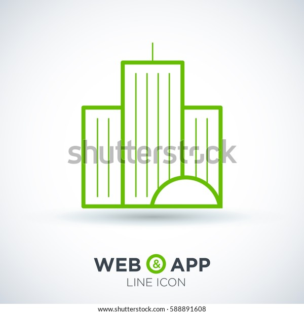 city isolated minimal icon. building line vector icon for websites and mobile minimalistic flat design.