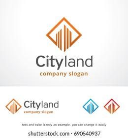 City Land Logo Template Design Vector, Emblem, Design Concept, Creative Symbol, Icon
