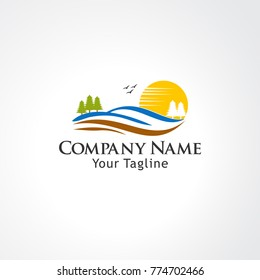 city land logo vector and element for business