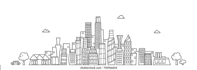 city landscape doodle