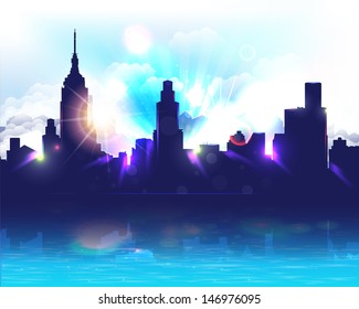 City Landscape Vector Design