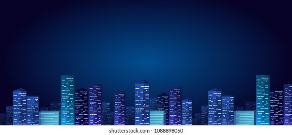 City landscape vector illustration background and wallpaper design illustration.