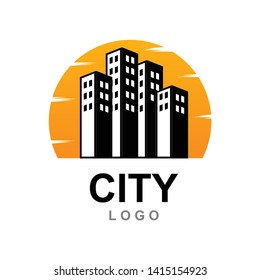 city logo design, Real Estate , Property and Construction Logo design for business corporate - Vector ilustration