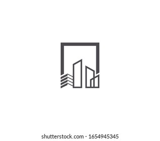 City logo real estate vector icon
