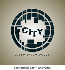 City Logotype Element EPS 10
