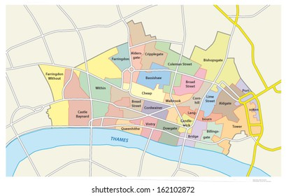 city of london administrative map