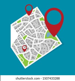 City map graphic flat vector