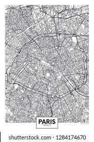 City map Paris, travel vector poster design