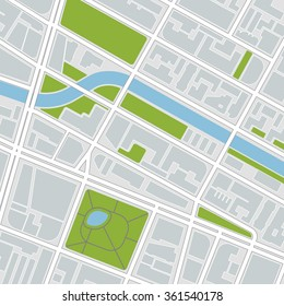 city map. vector illustration
