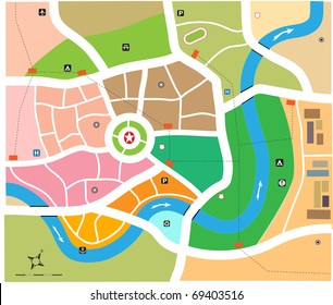 City map vector illustration
