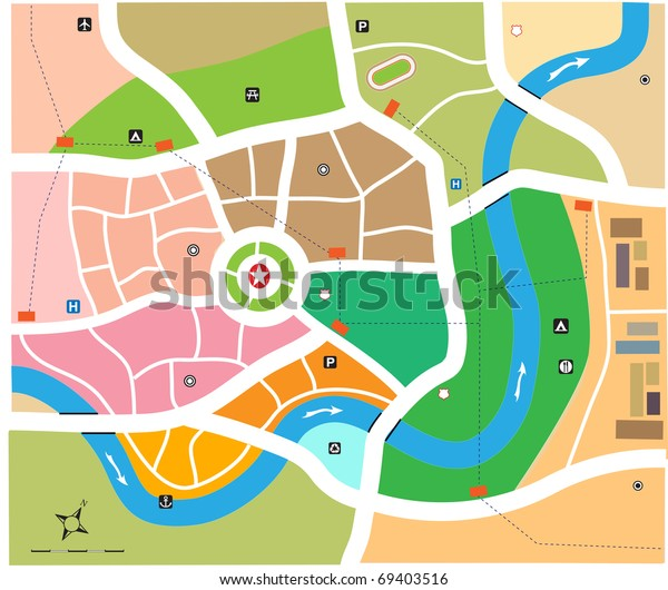 City map vector illustration