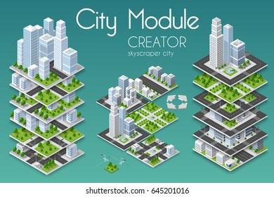 Isometric city stock images royalty free images vectors for Building map maker