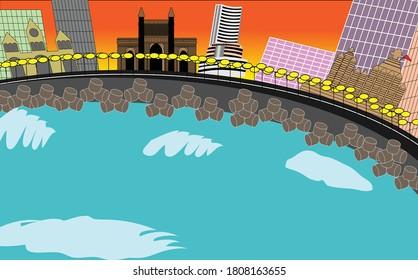 City of Mumbai with its popular landmarks