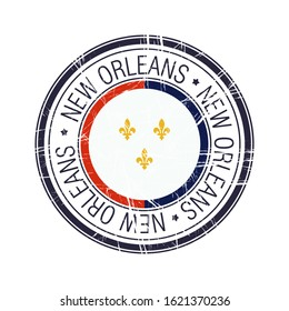 City of New Orleans, Louisiana postal rubber stamp, vector object over white background
