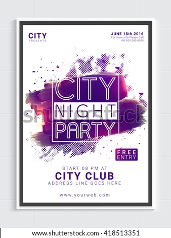 city night party template dance party stock vector royalty free