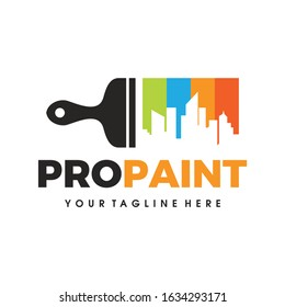 City Paint Logo, house paint, painting services, painting logo