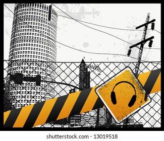 City Sign Vector Illustration