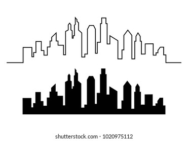 city skyline background vector illustration design