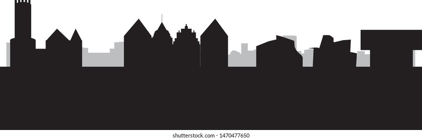 city skyline of Bielefeld in Germany