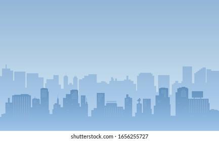 City skyline in the daytime. Urban landscape