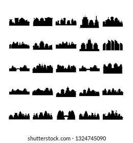 city skyline silhouette vector illustration