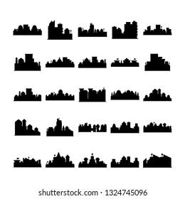 city skyline silhouette vector illustration