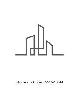 City skyline vector illustration in flat design
