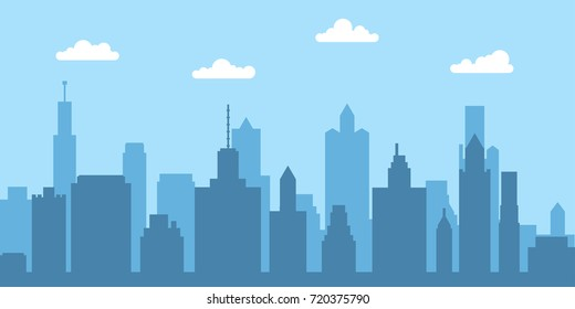 City skyline vector illustration. Urban landscape. Vector illustration.