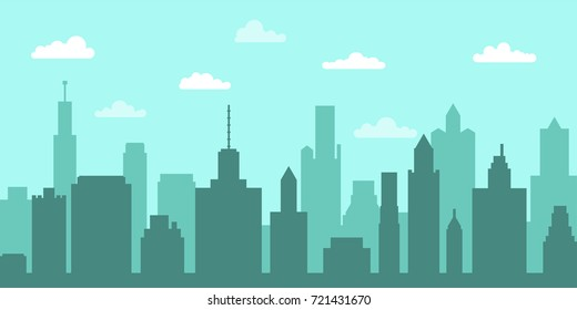 City skyline vector illustration. Urban landscape. Vector illustration.