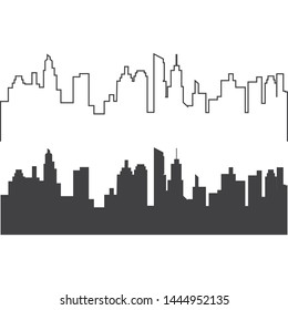 city skyline vector silhouette illustration
